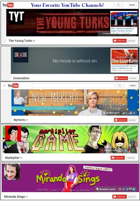 YOUTUBE LIST1