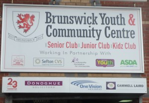 Entrance sign about Brunswick Youth and Community Centre