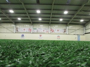 We offer facility hire of an indoor football pitch or training rooms.