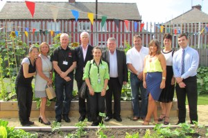Partners during the official launch of the Brunswick Community Garden who helped make it a reality.