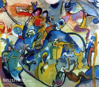 All Saints Day II by Wassily Kandinsky - Oil Painting Reproduction