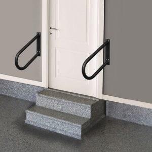 Wall Mounted Handrails Grab Rail Stair Railing Indoor Outdoor | Wall Mounted Stair Railing | Exterior | Natural Wood | Interior | Wall Mount Window | Oak