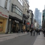 Shopping street of Brussels