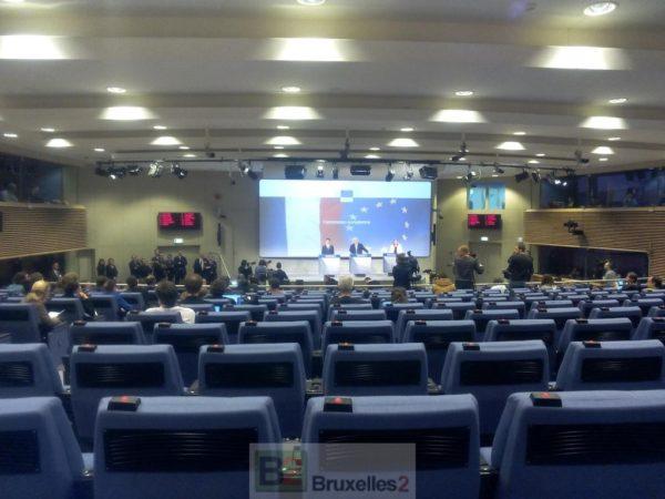 La conférence de presse de la Commission européenne de Manuel Valls
