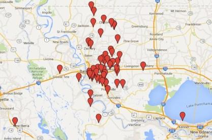 BRWC Club Members Map