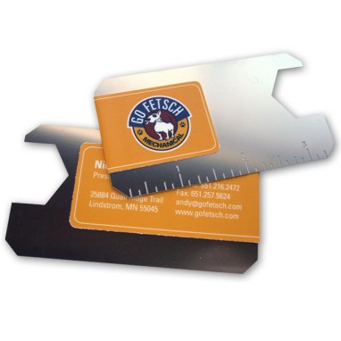 Specialty metal business card