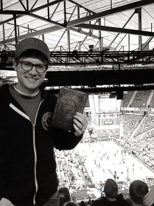 Brochure and me at Kings game.