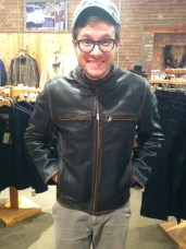 Me and a sweet leather coat