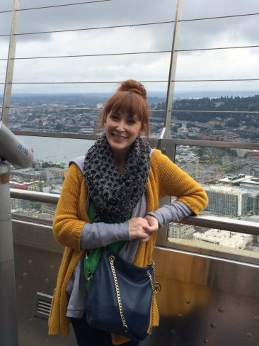 Beth on top of the Space Needle