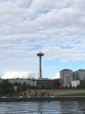 Space Needle from our boat ride tour