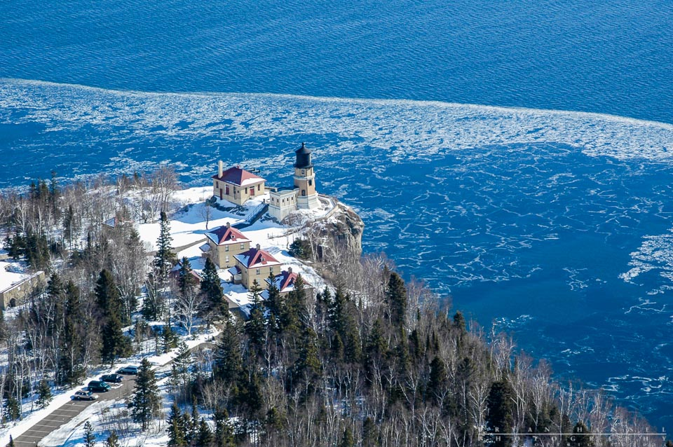 Split Rock Lighthouse Air Plane Aerial
