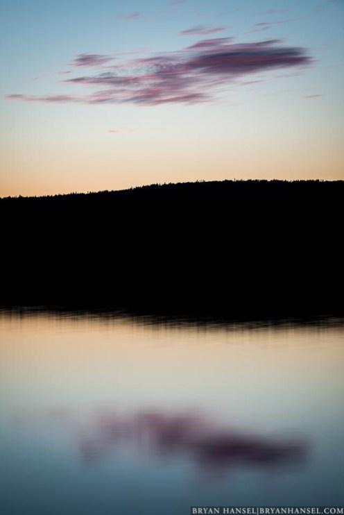 sunset on Pike Lake