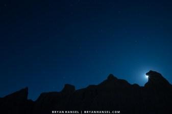 night in the badlands