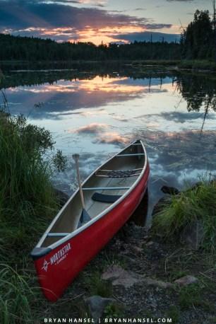 northstar canoe at sunset