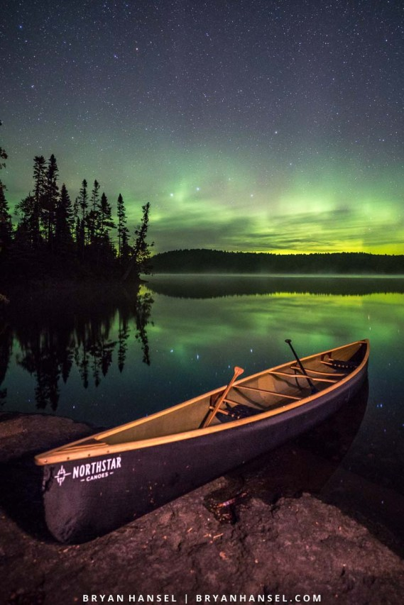 boundary waters canoeing and northern lights