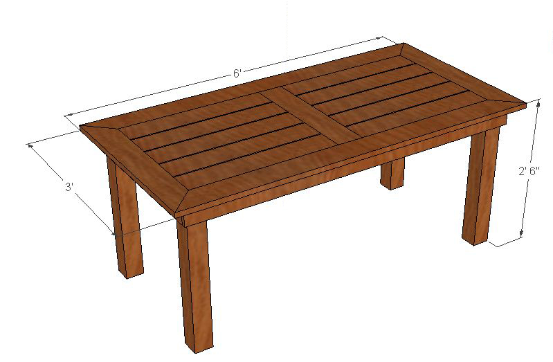 Pdf plans to build outdoor table diy free plans download for Free outdoor furniture plans pdf