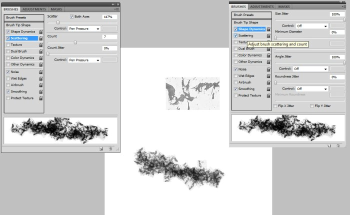 grunge brush settings