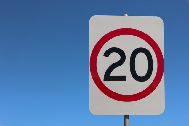 Speed limit sign - 20