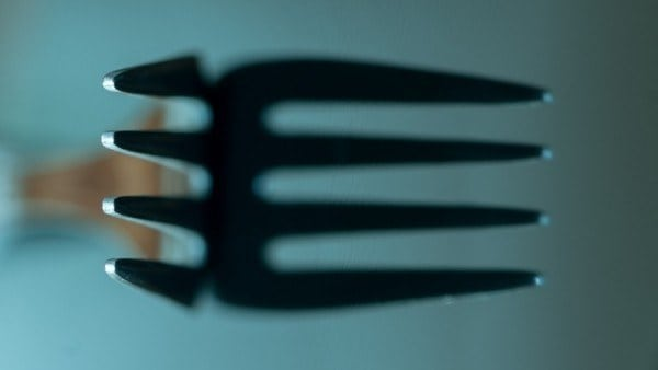 empty fork, symbolic of fasting and a hunger for heaven