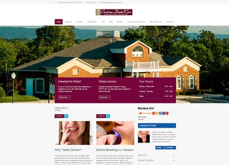 Dental Web Design Example
