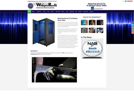 Custom Website Development WhisperRoom