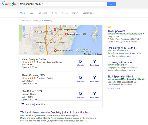 Local Search Results Now 3 Listings