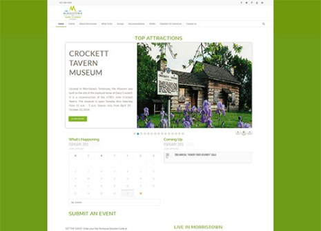 Morristown TN Chamber Website Design