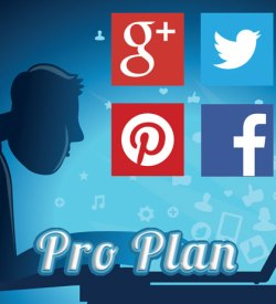 Pinterest, Facebook, Google+ and Twitter Social Media Mangement