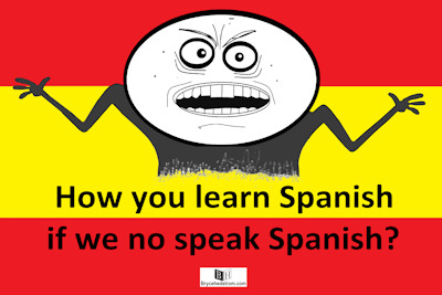 how you learn spanish poster