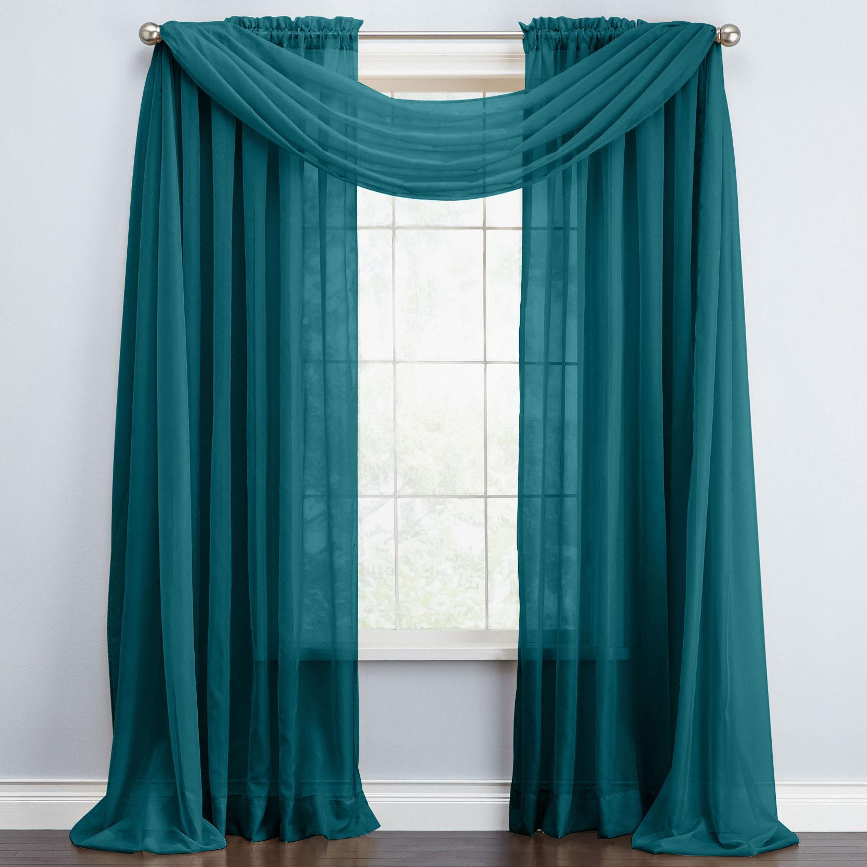 Bh Studio Sheer Voile Scarf Valance Window