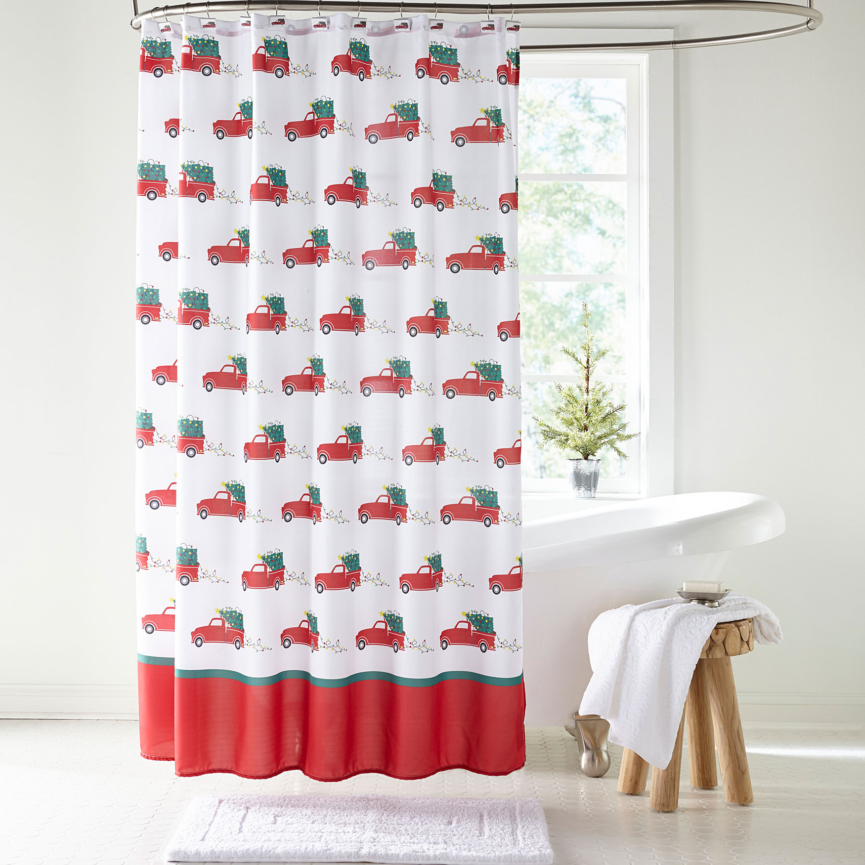 13 pc holiday shower curtains
