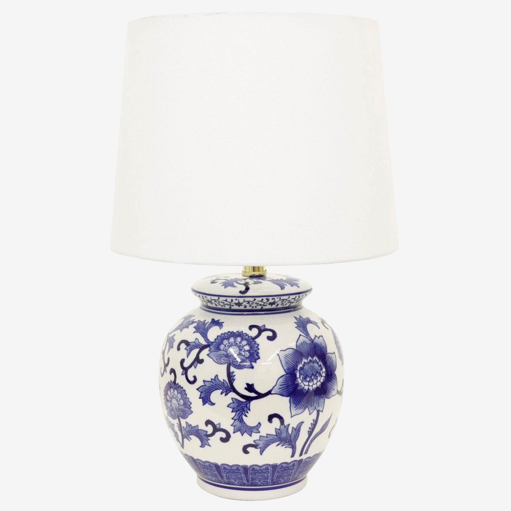 Blue Flower Table Lamp Brylane Home