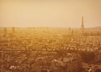 Paris skyline at sunset | Beautiful Phrases In French...Quotes for Instagram, Tattoos, or Just Inspiration #classy French Instagram captions #French proverbs about love #French military phrases #French expressions #common French sayings #French quotes about family