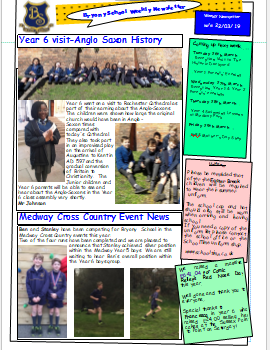 Weekly Newsletter w/e 22nd March 2019