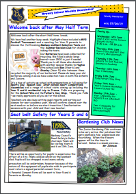 Weekly Newsletter w/e 7th June 2019