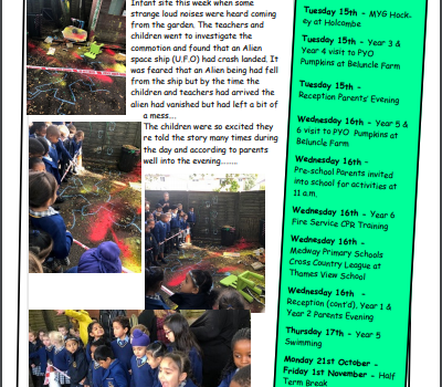 Weekly Newsletter w/e 11th October