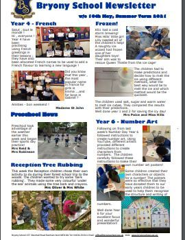Newsletter w/c 10th May 2021