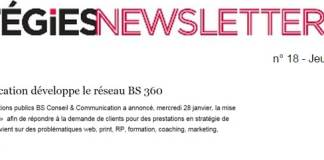 BS Communication dans le Strategies du 290115
