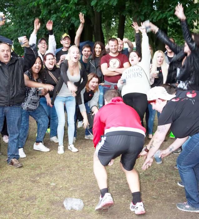 In der Wertung beste Fans, waren diese Herren und Damen beim BS Mönke Firmencup nicht zu übertreffen.