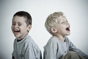 laughing kids