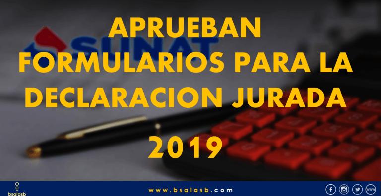 Lee más sobre el artículo SUNAT: Aprueban formularios para la Declaración Anual 2019