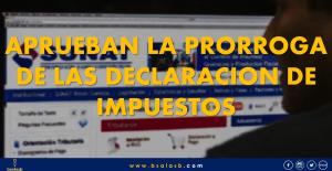 SUNAT: Prorrogan las declaraciones de presentación de los impuestos