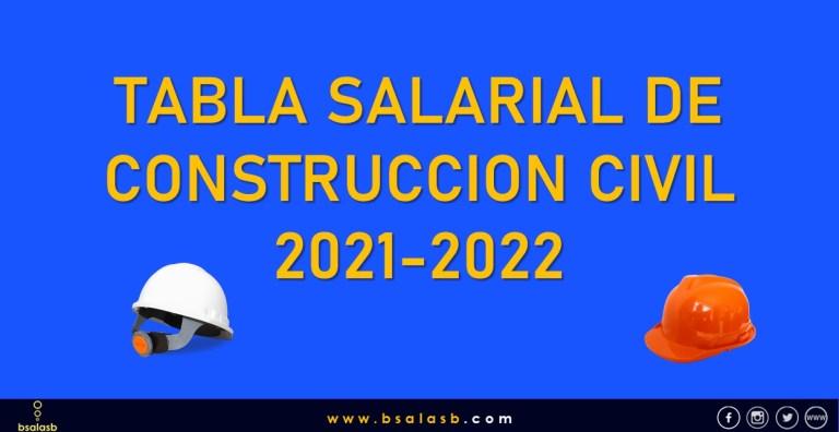 Lee más sobre el artículo Tabla Salarial de Construcción Civil 2021-2022.