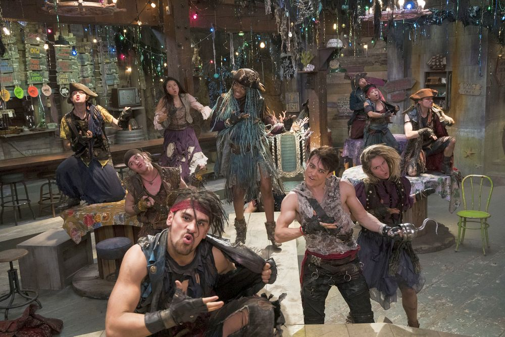 Sofia Carson, Cameron Boyce, Brenna D'Amico in New Descendants 2 Pics