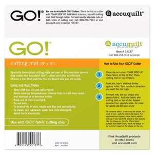 Accuquilt GO! Cutting Mat - 6 x 6
