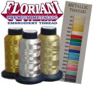 Floriani Premium Metallic Thread - Embroidery Thread - 880 yards