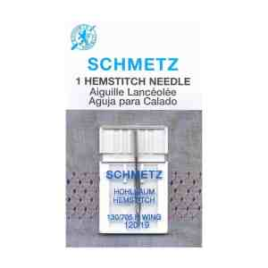 Schmetz Machine Needles - Hemstitch Needles Carded - 120/19 - 1 count