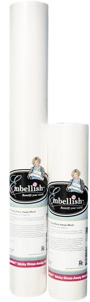 "Embellish Sticky Rinse Away Mesh 15"" x 10 yd"
