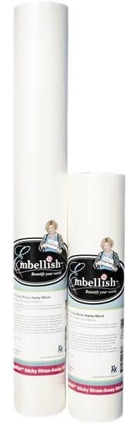 "Embellish Sticky Rinse Away Mesh 20"" x 10 yd"