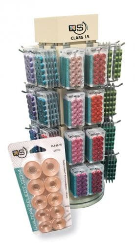 Quilters Select Pre-Wound Bobbins, Class 15 - 10 per pack